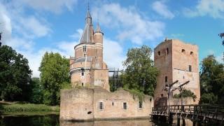 De geschiedenis van het kasteel gaat terug tot de vroege 13e eeuw toen de graaf van Bentheim een versterkt huis, gelegen nabij de plek waar vroeger Dorestad lag, in leen gaf aan het geslacht van Abcoude. In 1270 bouwde Zweder I van Abcoude een zware bakstenen woontoren (die er nu ook nog staat).  Het huis bleef tot 1449 in het bezit van het geslacht van Abcoude, toen werd het onder dwang verkocht aan de bisschop van Utrecht en kwam uiteindelijk in het bezit van het Sticht.  Bisschop David van Bourgondië, die het kasteel tussen 1459 en 1496 in bezit had, liet het kasteel grondig verbouwen. Hierbij werd de oude donjon volledig ingesloten door nieuwbouw. Tijdens deze verbouwing werd ook de nu nog intacte Bourgondische toren gebouwd. De opvolgers van David, Frederik IV van Baden en Filips van Bourgondië, gebruikten het kasteel ook als hun residentie. De laatste grote uitbreiding van het kasteel vond plaats in 1577. Toen werd er een aarden, gebastionneerde omwalling om het kasteel opgeworpen. Hoewel het kasteel in 1640 nog in goede staat verkeerde, verviel het ergens in de tweede helft van de 17e eeuw compleet tot een ruïne. Op een prent uit 1700 blijkt dat er al niet veel meer over was van het eens zo trotse gebouw. Deze teloorgang was het gevolg van bezuinigingen en verwaarlozing van de kant van het Sticht, en door vernielingen door Franse troepen tijdens het rampjaar 1672. De oude donjon van Zweder van Abcoude heeft door zijn uiterst robuuste constructie de tand des tijds redelijk goed doorstaan, en is nu nog een uitstekend voorbeeld van een middeleeuwse woontoren. De muren zijn twee en een halve meter dik; de oorspronkelijke ingang lag op de tweede verdieping en was bereikbaar via een houten trap die in tijden van nood gesloopt of afgebrand kon worden. Een van de hoektorens van het oude kasteel werd tijdens de 15e eeuw uitgebouwd tot de nu nog steeds bestaande Bourgondische toren. Waar de rest van het kasteel aan het einde van de Middeleeuwen meer weg had van een lux